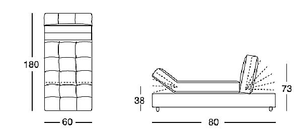 Диван LONGHI (F.LLI LONGHI) W530
