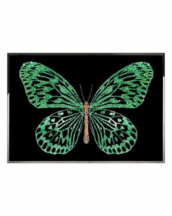 Панно, картина VISIONNAIRE (IPE CAVALLI) Green Butterfly Salone del Mobile Milano