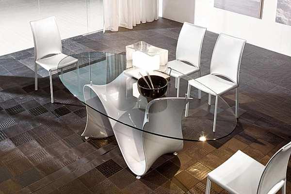 Стол TONIN CASA WAVE - 8014FSV_glass