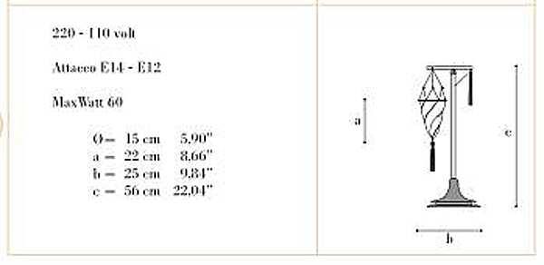 Настольная лампа ARCHEO VENICE DESIGN 403-00