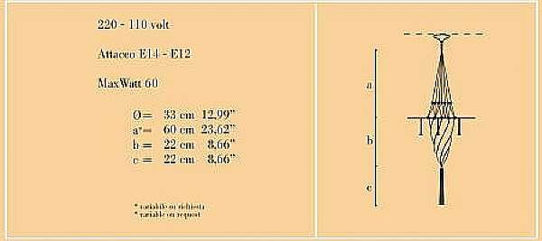 Люстра ARCHEO VENICE DESIGN 401-DB