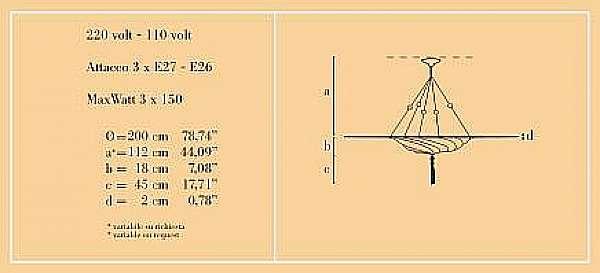 Люстра ARCHEO VENICE DESIGN 313-00