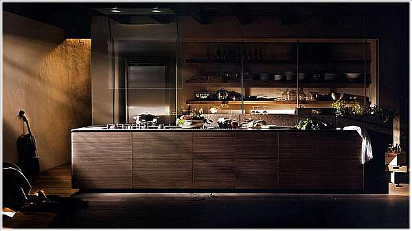 Кухня VALCUCINE Artematica Noce Tattile