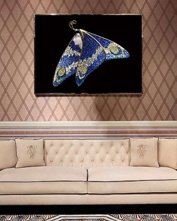Панно, картина VISIONNAIRE (IPE CAVALLI) LADY BUTTERFLY Salone del Mobile Milano