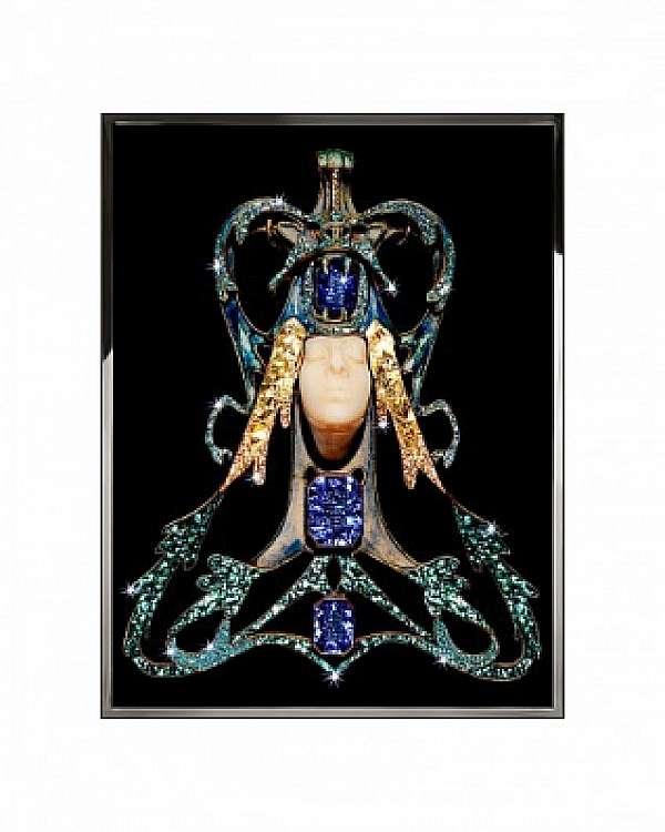 Панно, картина VISIONNAIRE (IPE CAVALLI) LADY DRAGON Salone del Mobile Milano